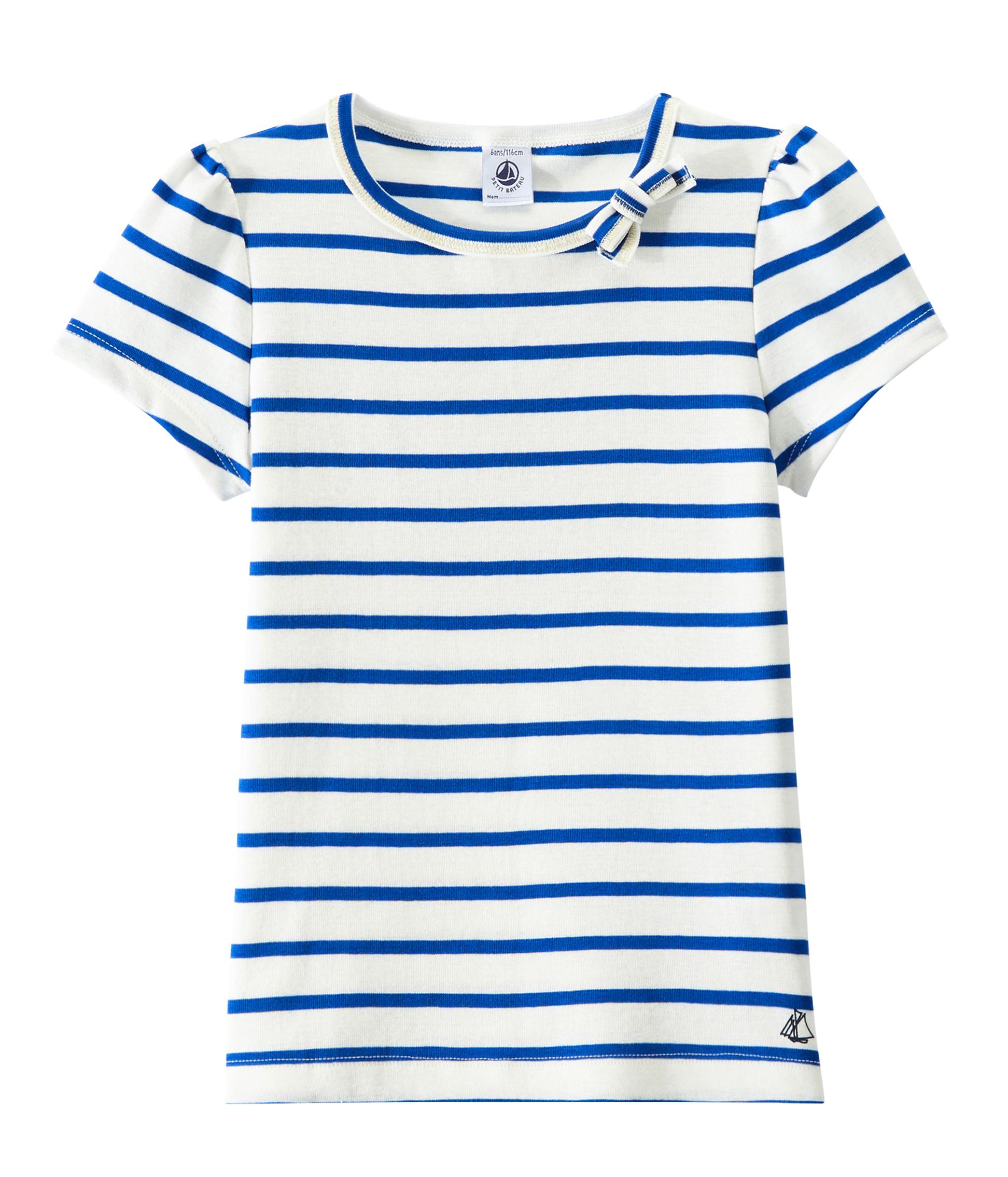 c594b946809 Girl's sailor-striped T-shirt
