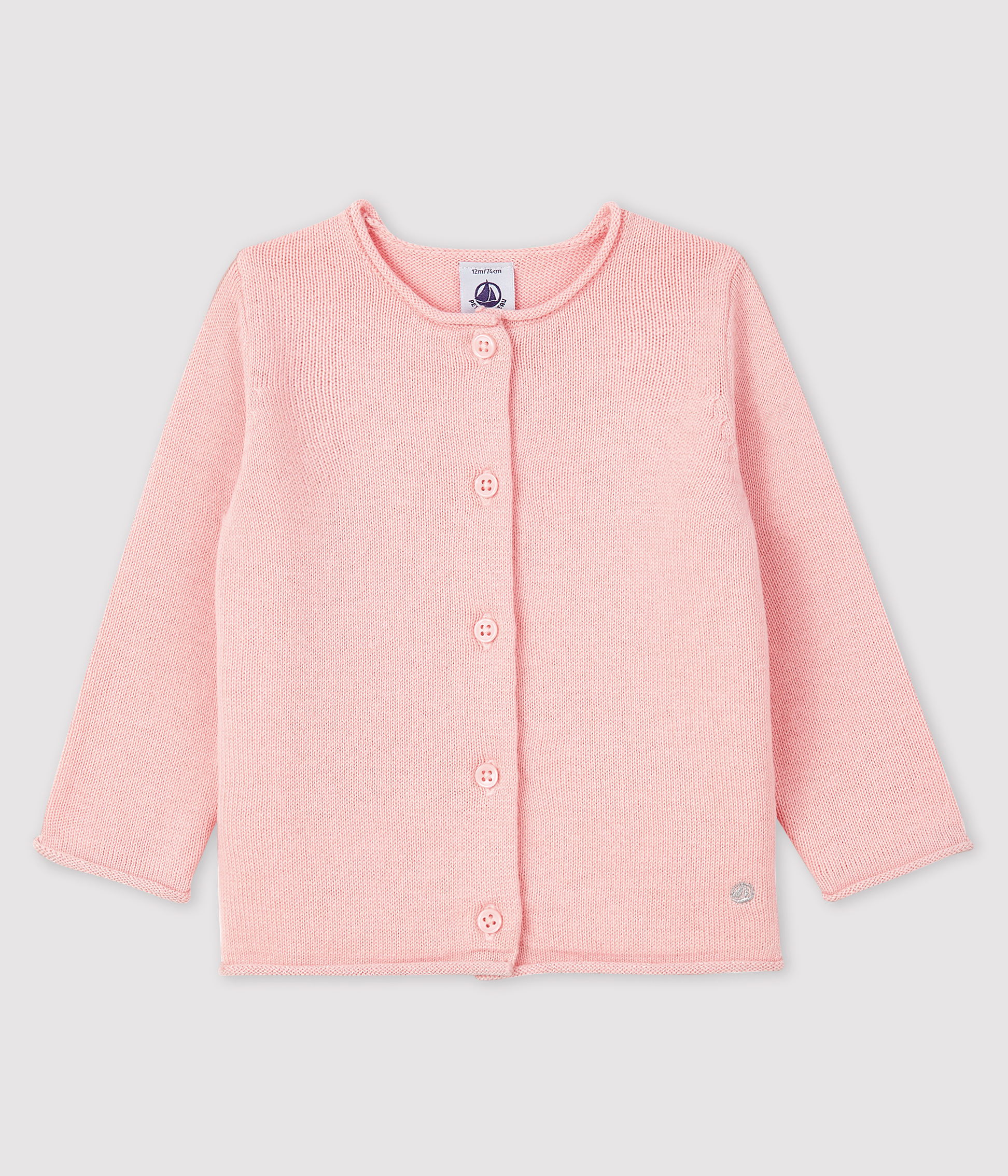 Baby girl's long-sleeved cardigan