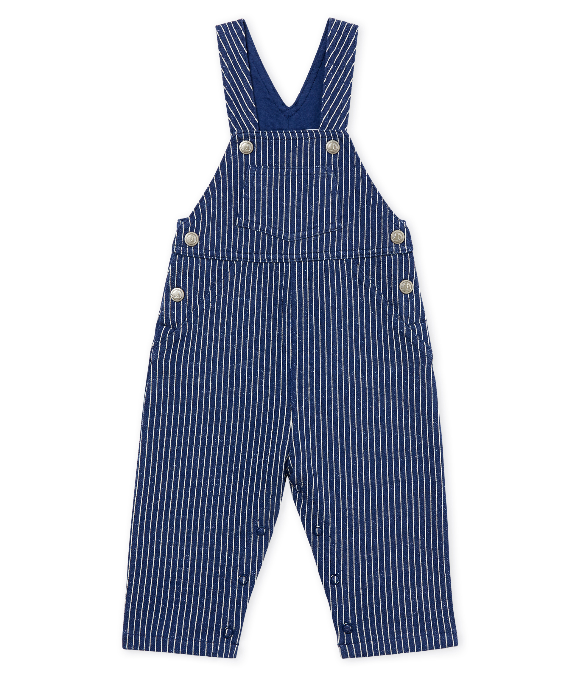 Baby boys' striped jersey long dungarees