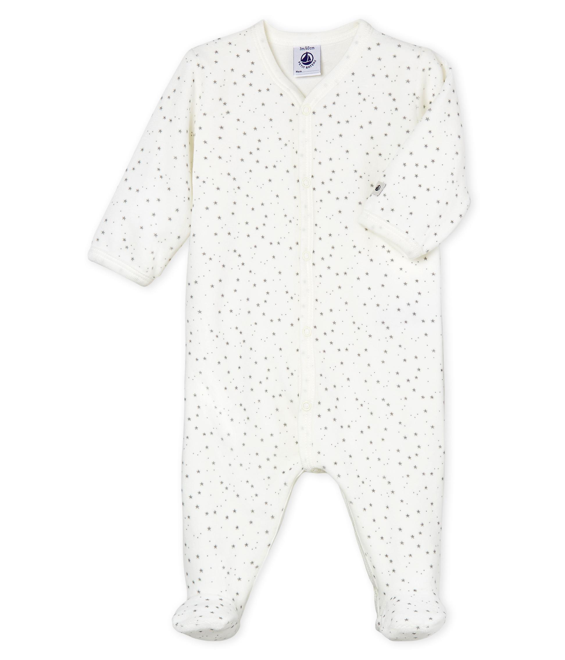 e5db973fc Babies' Unisex Velour Sleepsuit