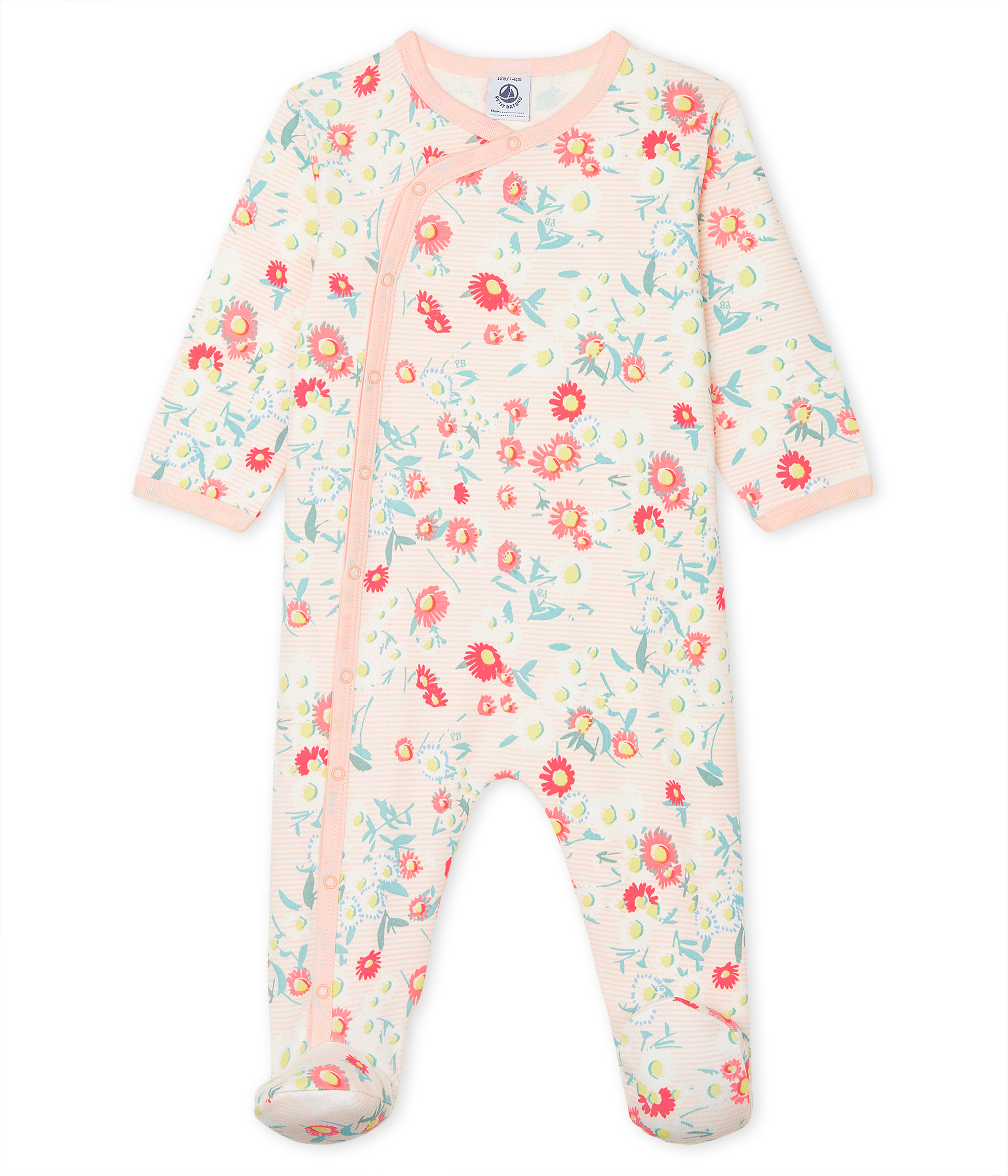 Baby Girls' Ribbed Sleepsuit