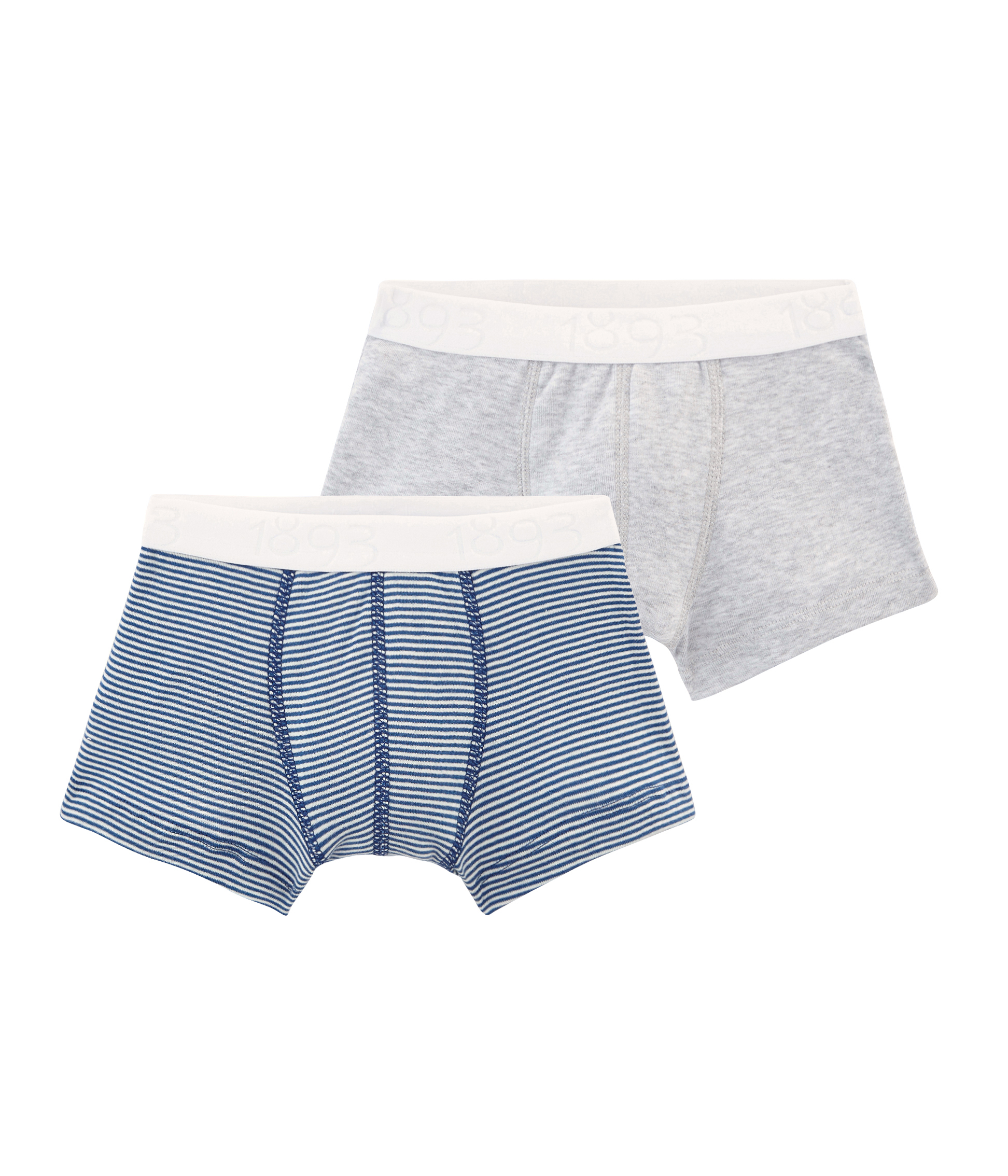 Pack of 2 Petit Bateau Boys Boxer Shorts