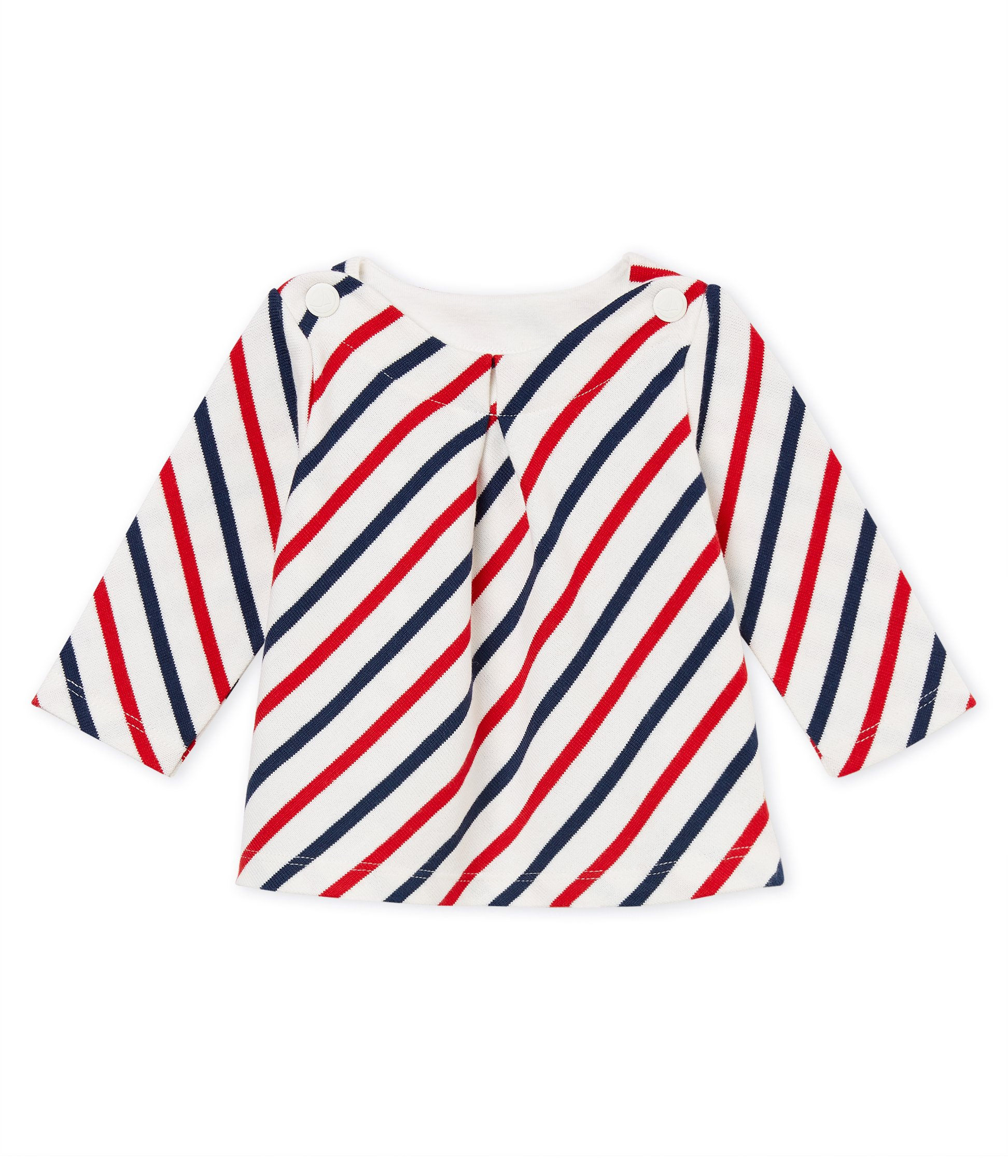 Baby girls stripy breton top