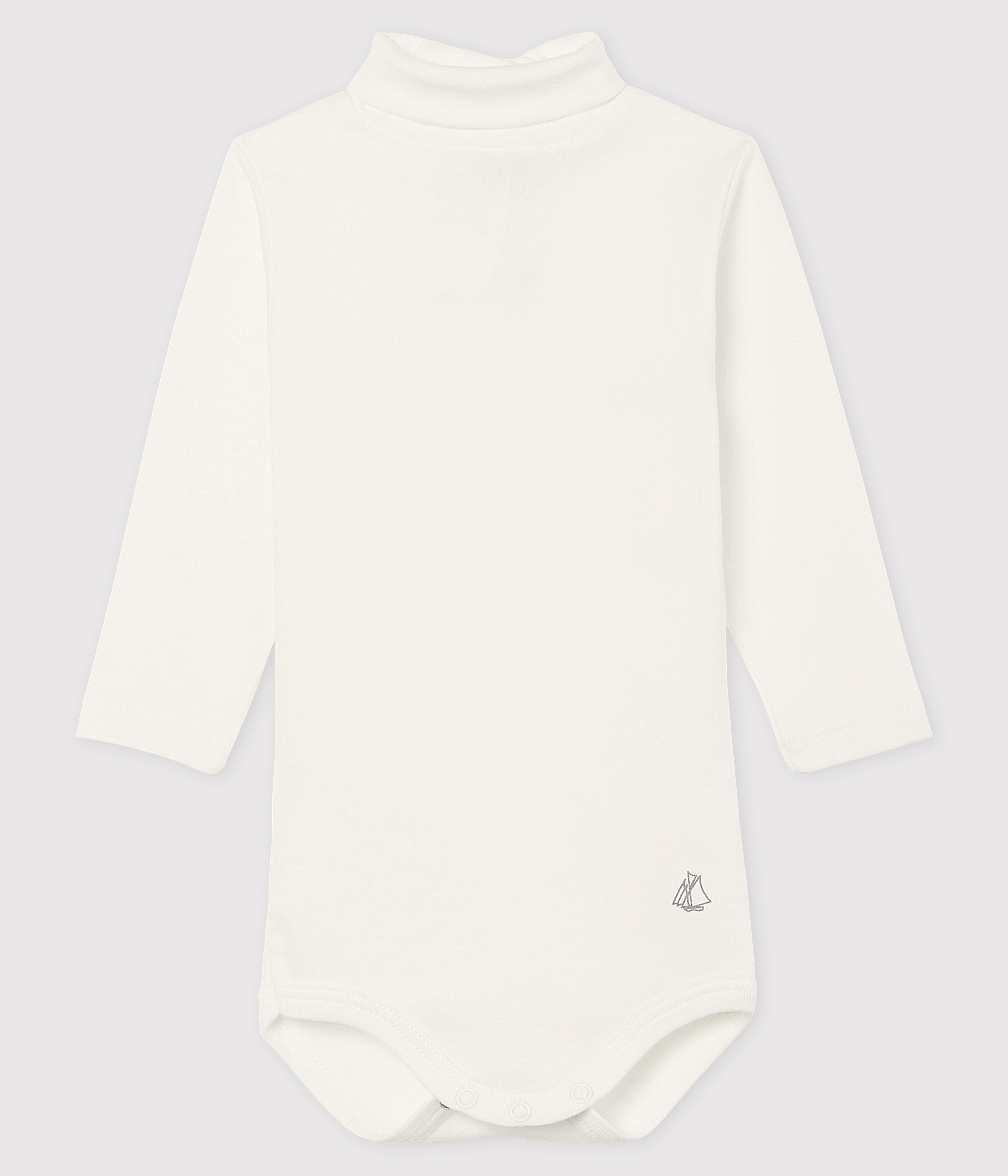 Baby's long-sleeved roll-neck bodysuit