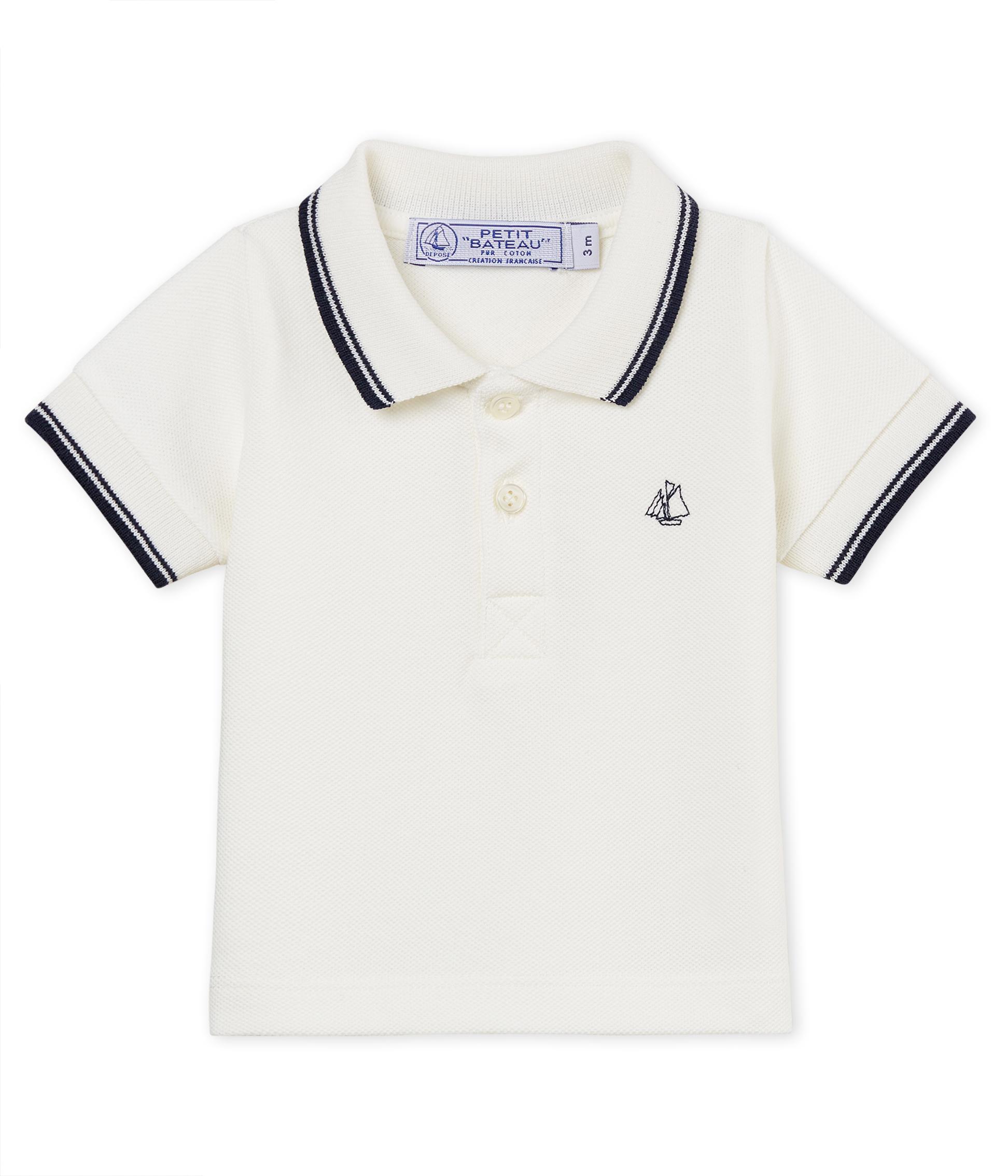 999d58ef97 Baby boys' plain piqué polo shirt | Petit Bateau