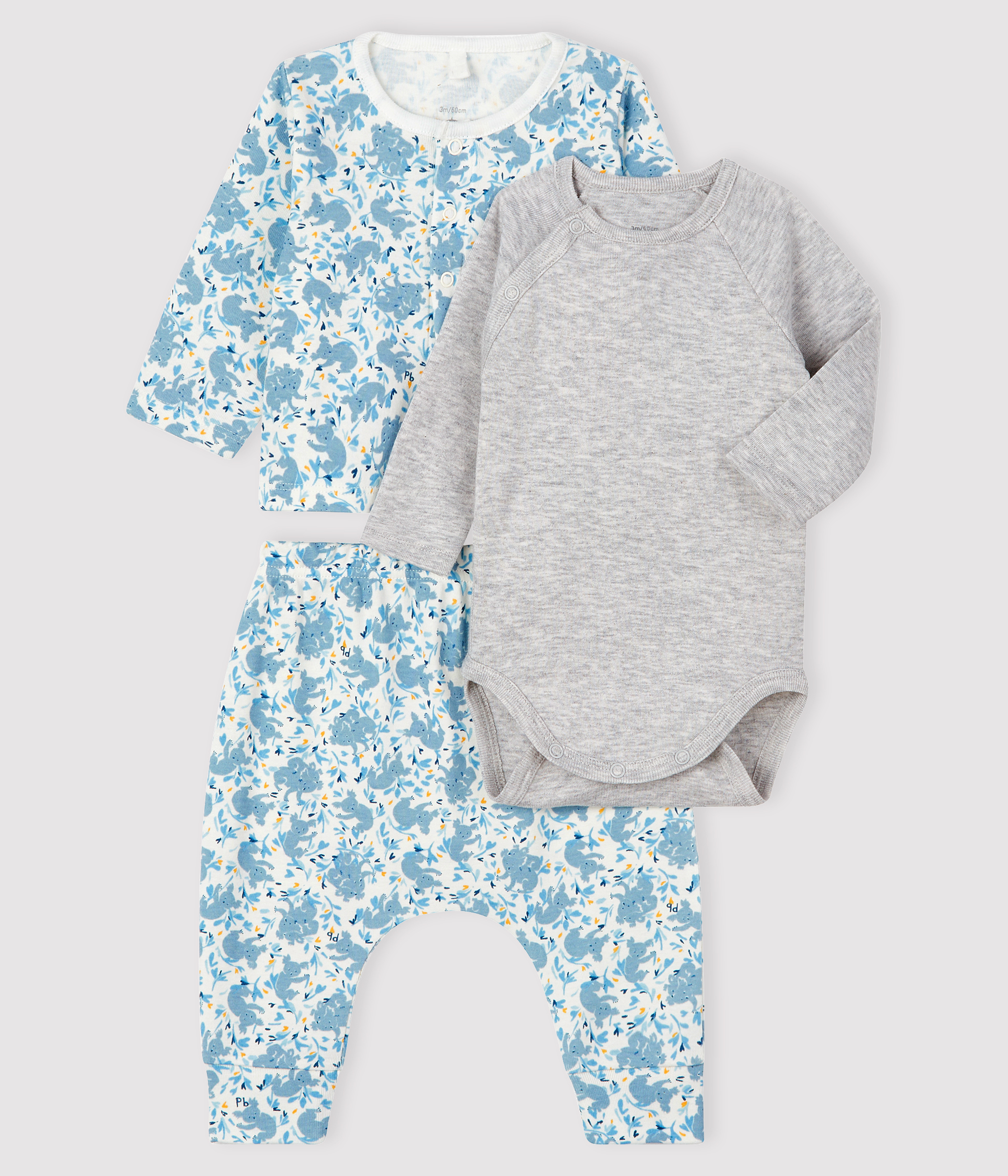Baby Boys' Ribbed Three-Piece