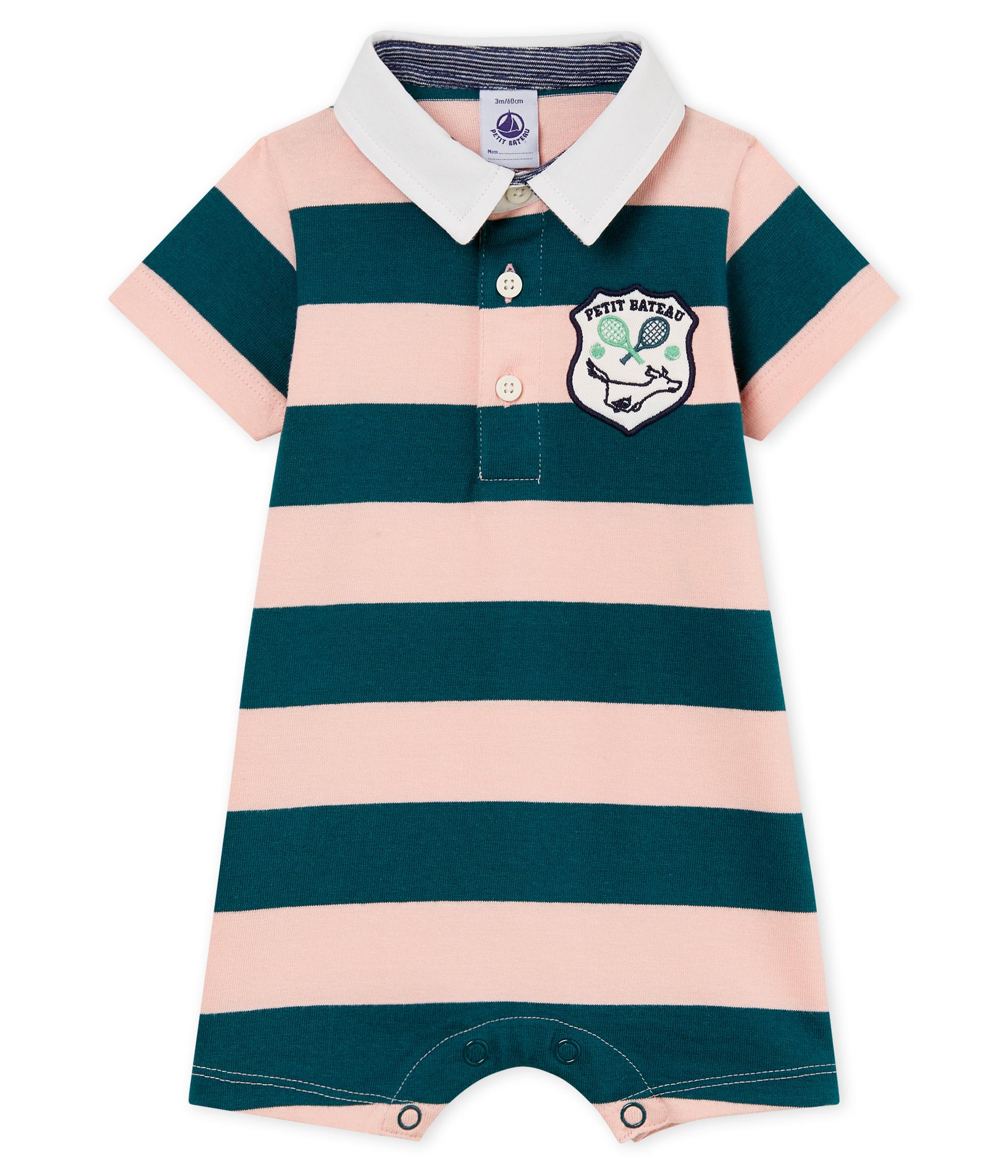 49b62ed08 Baby boys' striped polo shirt Shortie | Petit Bateau