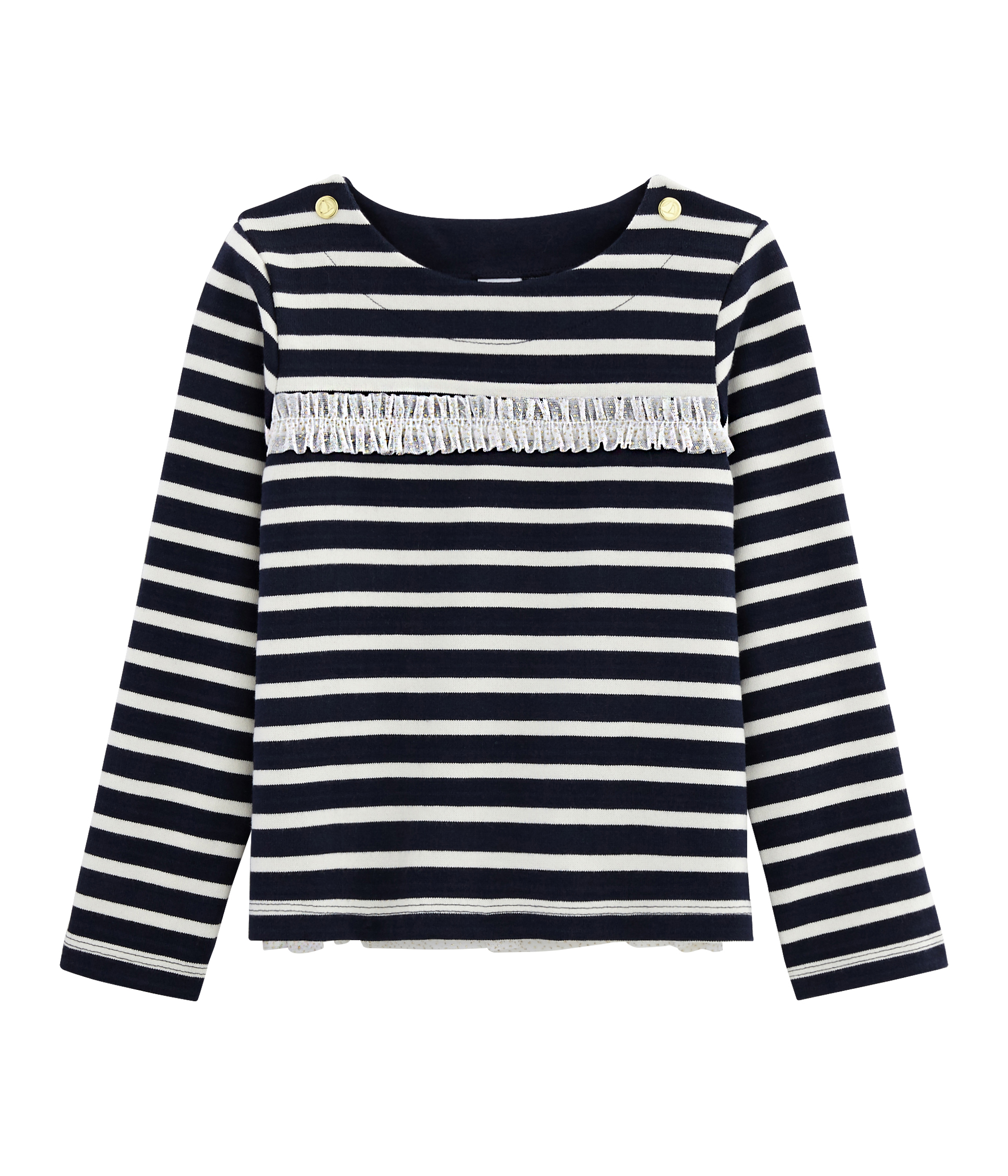 Girl's Long-sleeved Sailor Top